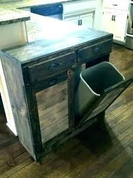 trash can cabinet outdoor diy h storage double bin garbage kitchen island holder tilt out