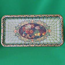 Daher Decorated Ware Tray Made In England Fascinating Vintage Daher Decorated Ware Metal Rectangular Serving Tray Made IN