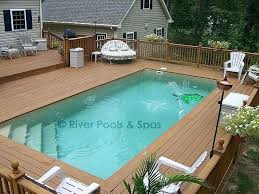 square above ground pool with deck. Square Swimming Pools Above Ground Pool With Deck Fiberglass Cost . O