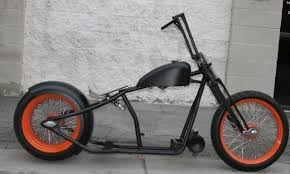 mmw old school og 300 tire chop bobber rigid rolling chassis
