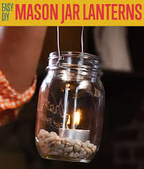 how to make diy outdoor hanging mason jar lantern diyprojects com