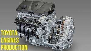 Toyota 4-Cylinder and 8-Cylinder Engines Production - YouTube
