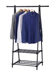 Heavy Duty Coat Rack With Shelf Heavy Duty Black Metal Coat Rack W 100 Tier Storage Shelves for 94