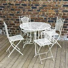 full image for antique white metal bistro garden table and chairs black plastic garden table and