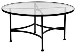 round wrought iron coffee table top glass classic 48 inch round glass top dining table eclectic