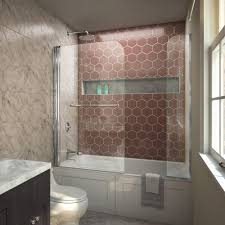 dreamline aqua swing 56 to 60 in x 58 in frameless hinged tub door