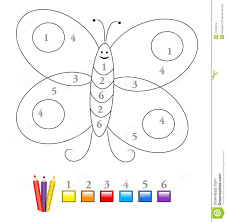 Small Picture Coloring Pages By Numbers For Kindergarten Coloring Pages