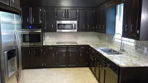 simple dark grey kitchen cabinets for