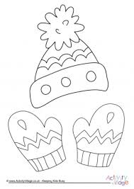 Small Picture Winter Colouring Pages for Kids