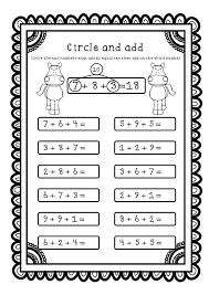 Adding Three Numbers (Add 3 Numbers) Worksheets / Printables ...