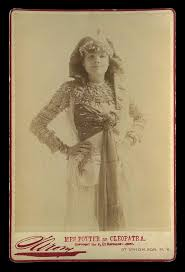 1889 Cabinet Card Photo socialite & theatre Actress Mrs James Brown Potter  as Cleopatra in costume By Famous Napoleon Sarony of New York