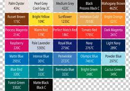 Orange Pantone Color Chart Pantone Color Scheme Color Chart Tints And Shades Png
