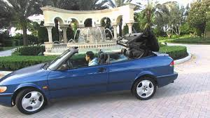 1998 Saab 900 SE Convertible Top Operation Going Down - YouTube
