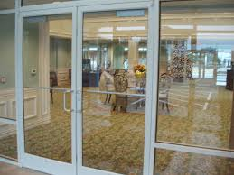 Contemporary Interior Glass Office Door Commercial Entry Doors With Decoration In Models Design