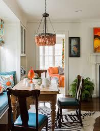 orange chandelier