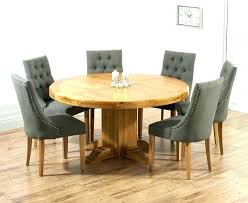 8 round est oak dining table 6 chairs oak