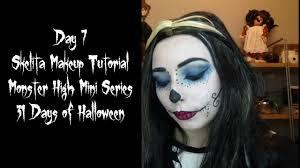 day 7 skelita makeup tutorial monster high mini series