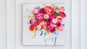 Easy Floral Designs To Paint 3 D Floral Canvas Wall Art Martha Stewart
