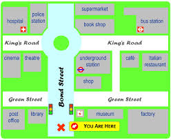 download map directions to and from  major tourist attractions maps
