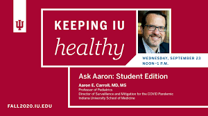 IUPUI - Join us on Wednesday as Dr. Aaron Carroll answers... | Facebook