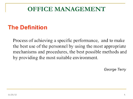 office define. office managementcomponents office define
