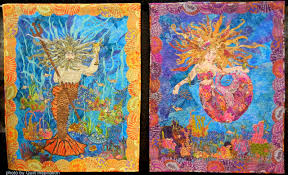 Quilt Inspiration: Under the sea & ... I decided that she needed an underwater date (thus King Neptune was  created). Both (these images) are mystical sea creatures whom I have yet to  ... Adamdwight.com