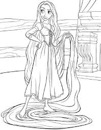 Small Picture TANGLED COLORING PAGES OF DISNEYS PRINCESS RAPUNZEL kids