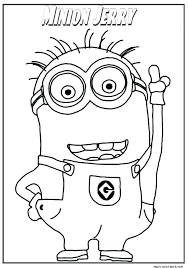 Minion Coloring Pages Free Minion Coloring Pages Minion Colouring