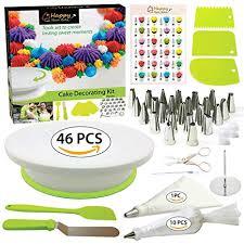 Amazoncom Cake Decorating Supplies Kit With Cake Turntable