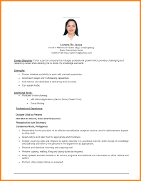 Objective For Resume First Job Memo Example Part Of Time Format Re