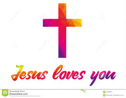 Quote Symbol Delectable Poster With Christian Cross And Saying Jesus Loves You Made Of R
