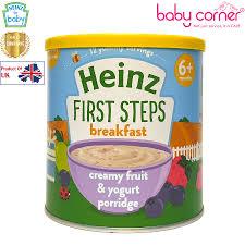 Bột Ăn Dặm (Cháo) HEINZ Kem Trái Cây và Sữa Chua, 240g, Từ 6 tháng –  Babycorner Shop