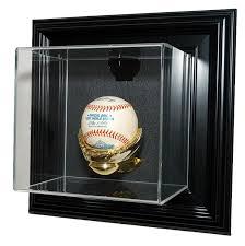 caseworks n a n a baseball display case wall mountable black finish frame