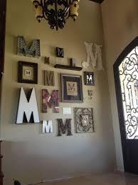 monogram letter wall art