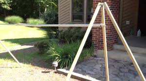 DIY Portable Camping Hammock Stand - YouTube