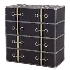 sophisticated equestrian inspired trunk style chest of drawers the astoria chest of drawers features a trunk design in dark grey canvas upholstered finish