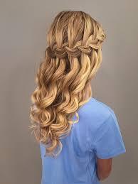 Hairstyle Waterfall waterfall braid with mermaid waves great bridal prom or 5663 by stevesalt.us