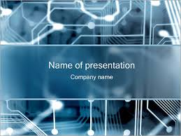 Powerpoint Circuit Theme Electronic Circuit Powerpoint Template Infographics Slides