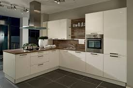White Gloss Kitchen High Gloss White Kitchen With Dark Wood Laminate Worktop