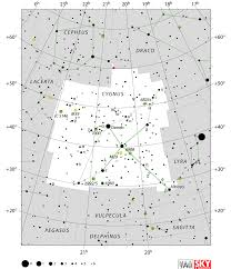 July 2018 Star Chart Cygnus Constellation Facts Myth Star Map Major Stars