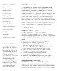Project Manager Resume Samples Construction Project Engineer Resume