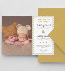 Print Baby Announcement Cards Twins Birth Announcement Card Digital File Pdf Printed Cards Baby Thankyou Card Editable Template Download Printable Corjl