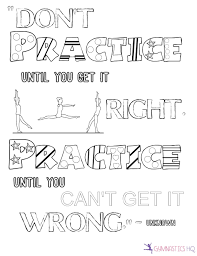 Cheer Dance Motivational Quote Gymnastics Coloring