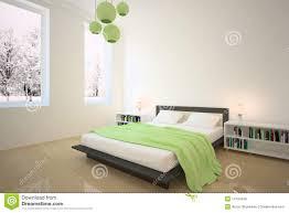 Camera da letto verde illustrazione di stock. Immagine di moderno ...