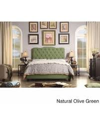 tufted upholstered beds. Moser Bay Twin Size Tufted Upholstered Bed Set (Twin Size, Natural Olive  Green Color Tufted Upholstered Beds