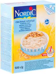 <b>Хлопья овсяные NORDIC</b>, 500г, Финляндия, <b>500</b> г