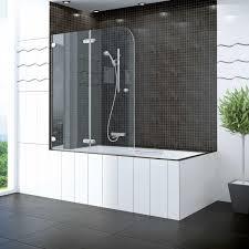 half framed clear shower splash guard designs