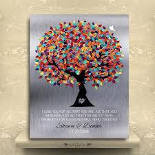 10th wedding anniversary tin gift ideas tin anniversary gift personalized family tree faux tin background 10