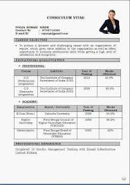 Gallery Of Cv Format Doc File Resume Document Format Download