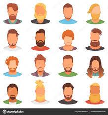 ひげベクトル理髪店白い背景で隔離理容室ヘアスタイルの流行に敏感な顔